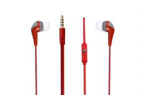 Amplify Слушалки Walk the Talk- In-earphones with mic Red & grey AM1101/RG