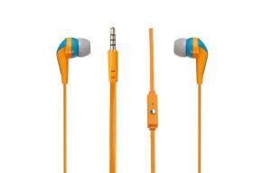 Amplify Слушалки Walk the Talk- In-earphones with mic Turquose & orange AM1101/TOG
